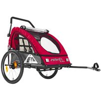 Red Cycling Products - Pro Kids BikeTrailer - Remorque vélo - gris/rouge