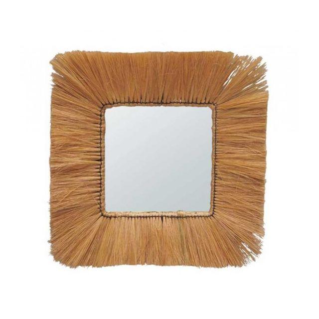 Wadiga Miroir Carré Style Exotique Fibres Naturelles - 55x55cm