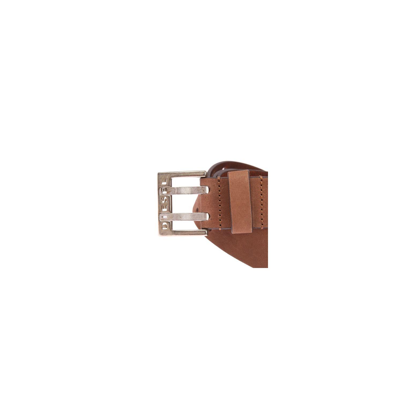 4be7ed337570 Diesel - Ceinture Bit en cuir marron, boucle à double ardillon - pas ...