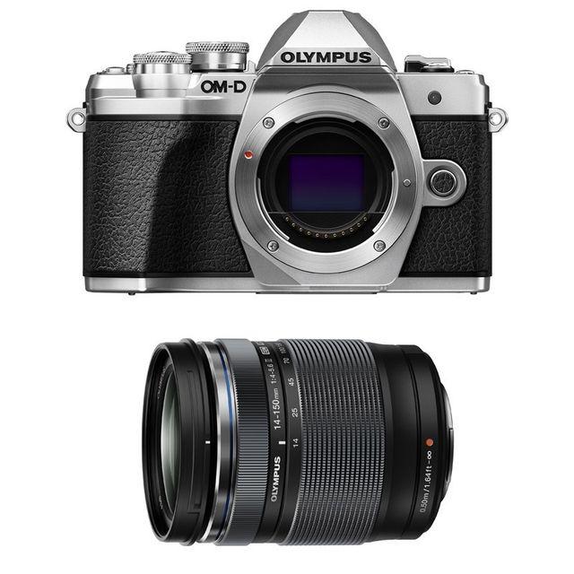 Olympus Compact hybride Om-d E-m10 Iii Silver + M.ZUIKO Digital Ed 14-150mm 1:3.5-5.6 Ii Noir Garantie 3 ans