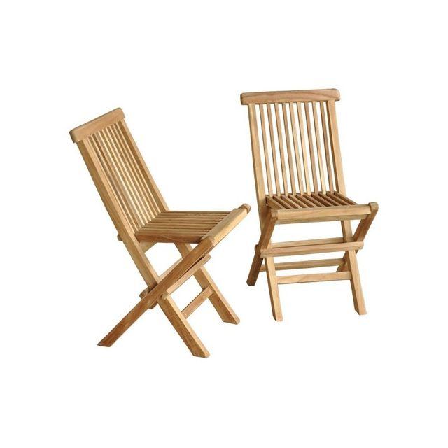bois dessus bois dessous lot de 2 chaises pour enfant en bois de teck midland pas cher achat. Black Bedroom Furniture Sets. Home Design Ideas
