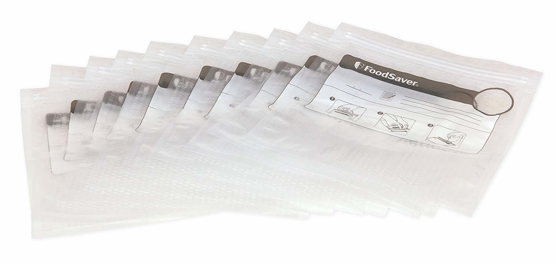 FOODSAVER 26 sacs de mise sous vide avec fermeture zip à glissière - FVB015X
