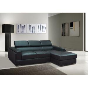 envie de meubles canap d angle simili cuir noir salerno achat vente canap s simili cuir pas. Black Bedroom Furniture Sets. Home Design Ideas