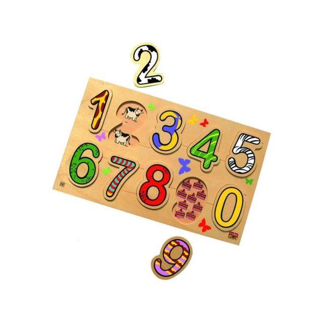 Bsn Bsm Jeu d'encastrement Puzzle chiffres et quantités - Mixte - Livré a l'unité