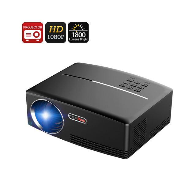 Auto-hightech Projecteur video portable 1800 lumens hdmi support 1080p