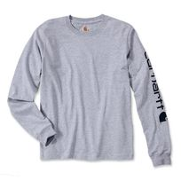 CARHARTT - T-shirt manches longues Logo manche gris S S1EK231HGYS