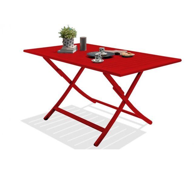 Dcb Garden Table pliante en aluminium rouge carmin