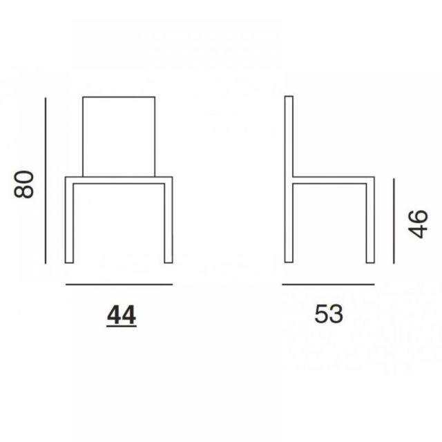 Inside 75 Lot de 2 chaises design Orbital Wood fumé et