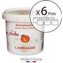 Lagrange - Lot de 6 pots d'aromatisation pour yaourts Peche