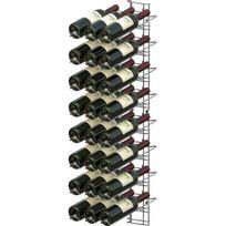 Visiorack - Support mural chromé pour 24 bouteilles de 75cl - Bouteilles inclinées - Chrome Aci-vis202