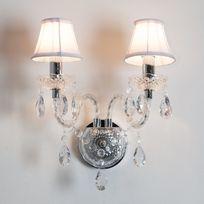 Muno - Applique double baroque en acrylique et tissu Romeo - Transparent