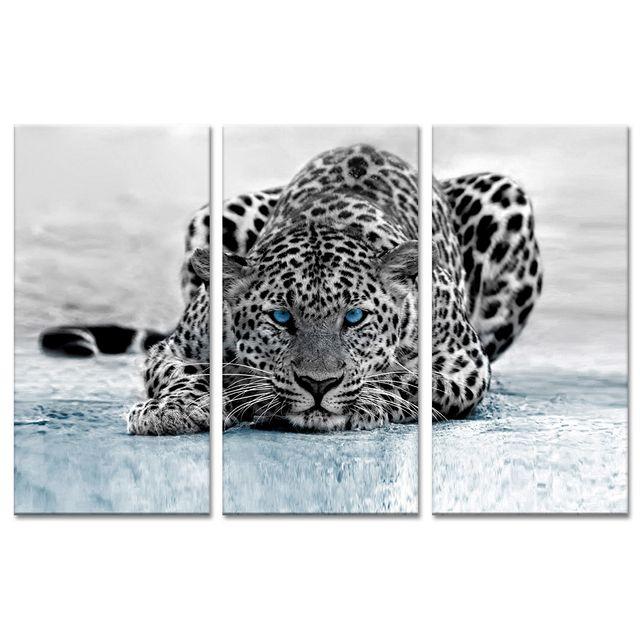 Declina - Triptyque toile animaux déco léopard à prix bas - Boutique