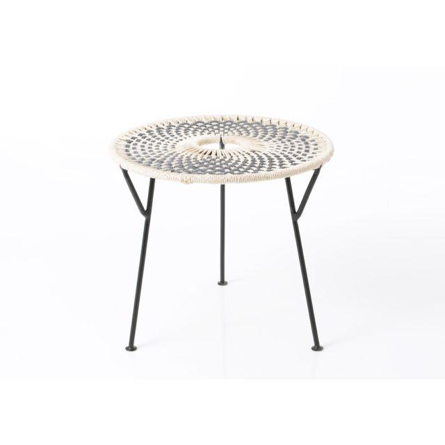 AMADEUS Table basse grise Baya 50 cm