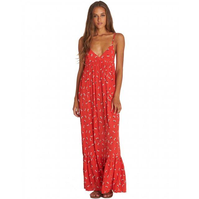 6488b6f50ccc5c Billabong - Robe longue Rouge - Taille unique - pas cher Achat ...