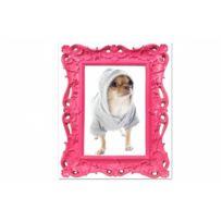 Declikdeco - Tableau Baroque enfant Chihuahua Rose L.55 x H.80 cm