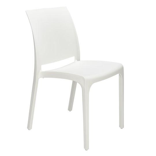 Chaise de jardin Roma Blanc à Prix Carrefour