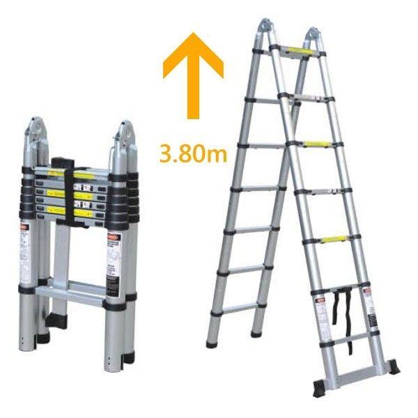 Lbh Tools Escabeau Télescopique Avec Extension échelle