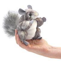 Folkmanis - Mini Chinchilla Marionnette De Doigt