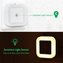 Veilleuse Lampe Automatique Eclairage 6 3000k De Led Nuit 0 Enfant D'escalier Avec 4 Lot 5w40lm Lumière lJcFTK1