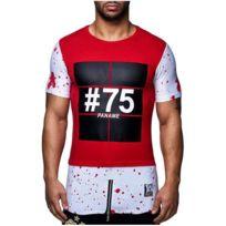 David Gerenzo - Tee shirt Paname 75 T-shirt G-d 126 Rouge