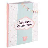 Touslescadeaux - Livre de naissance - Album Naissance Textes Photos - 56 pages - Fille
