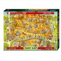Heye - Puzzle 1000 pièces Funky Zoo : Marino Degano, Habitat africain
