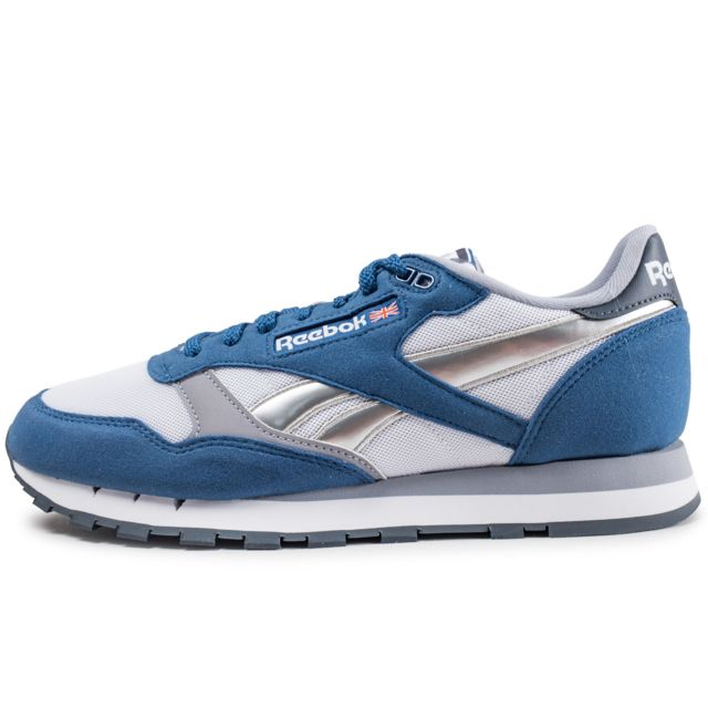 buying new presenting professional sale Reebok - Classic Leather Bunker Blue - pas cher Achat / Vente ...