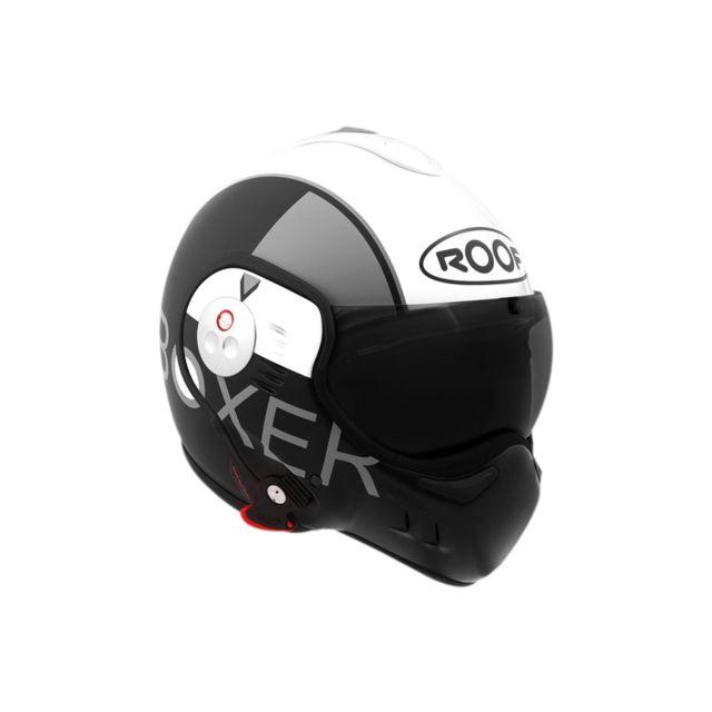 Roof - Casque Boxer V8 Grafic Blanc Noir,Blanc