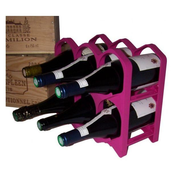 Drinkcase Casiers à bouteilles couleur Fuschia, Design et empilables Pack de 15 Casiers