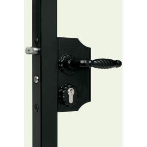 locinox serrure de portail style fer forge finition noir pas cher achat vente le grand. Black Bedroom Furniture Sets. Home Design Ideas