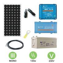 Victron - Kit solaire 130w autonome mono + convertisseur 230v