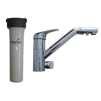Aqua-techniques - Filtre à eau Doulton Hip+mitigeur 3 voies classique