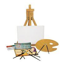 Mendler - Lot de peinture/matériel de peinture acrylique, avec chevalet