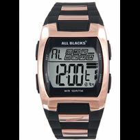All Blacks - Montre Homme Chrono Silicone Noir 680364 Sport - 100 Mètres