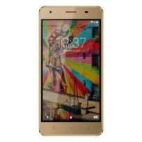 Konrow - Link 50 - Smartphone 4G Lte - Android 6.0 - Ecran 5'' - 8Go - Double Sim - Or