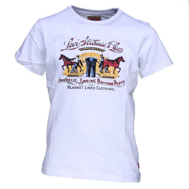 levi 39 s tee shirt gar on levis nj10257 01 white pas. Black Bedroom Furniture Sets. Home Design Ideas