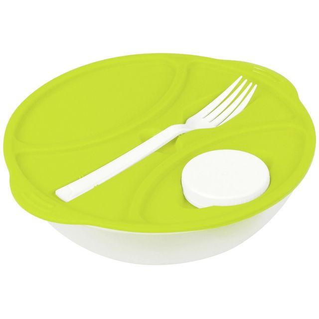 Promobo Lunch Box City Panier Repas 1 Couvert Un Doseur Sauce Slim Vert