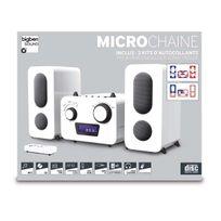 Bigben - Interactive - Microchaîne Blanche+ 2 Stickers- Lecteur Cd - Radio Pll Fm Stéréo Mcd11 city mp3 usb