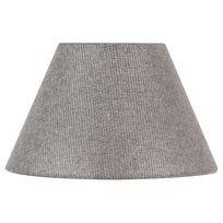 Corep - Abat jour forme empire en coton toiline Cotton - Gris paillettes - 40cm
