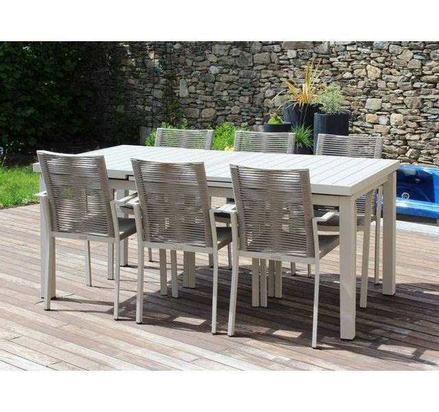 RESIDENCE - Salon de jardin CORDOBA - fauteuils cordes - Couleur ...