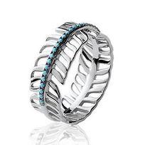 Renobijoux - Bague argent 925 rhodié pierres bleues