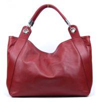 Oh My Bag - Sac à Main Cuir femme - Modèle Paris rouge foncé