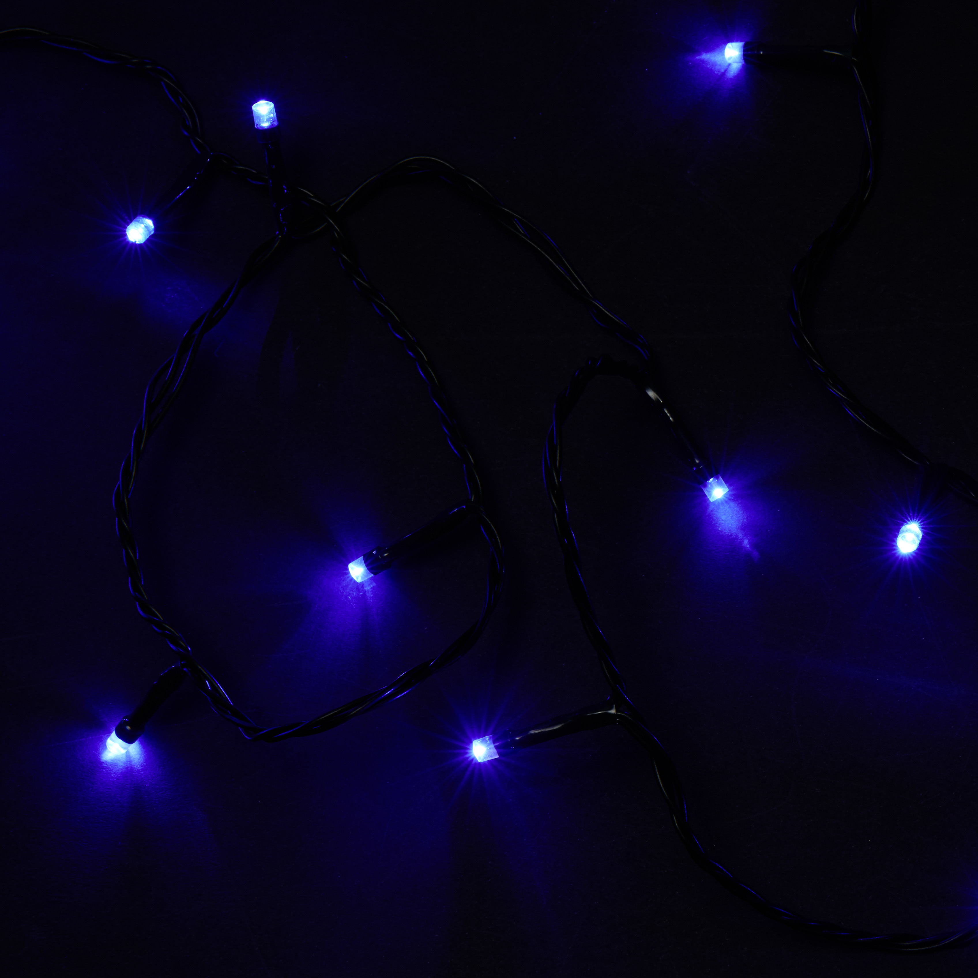 Guirlande lumineuse animée n° 23d - Bleu - L 24 m - DE61712