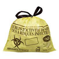Jet'SAC - Sac poubelle 15 litres Nf Hostosacs déchets hospitaliers liens coulissants - carton de 500