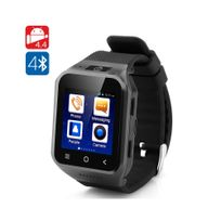Auto-hightech - Montre téléphone Bluetooth android 3G - Dual Core 8GB 5 Megapixel Noir
