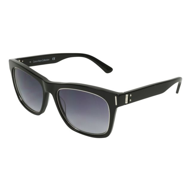 5f7eaa1789d878 Calvin Klein - Ck-8509-S 001 Noir brillant - Argent - Lunettes de soleil - pas  cher Achat   Vente Lunettes Sport - RueDuCommerce