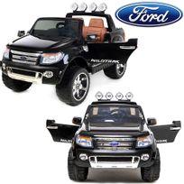 Ford - 4x4 voiture quad électrique Ranger 12V 2 places siège luxe en cuir Noir