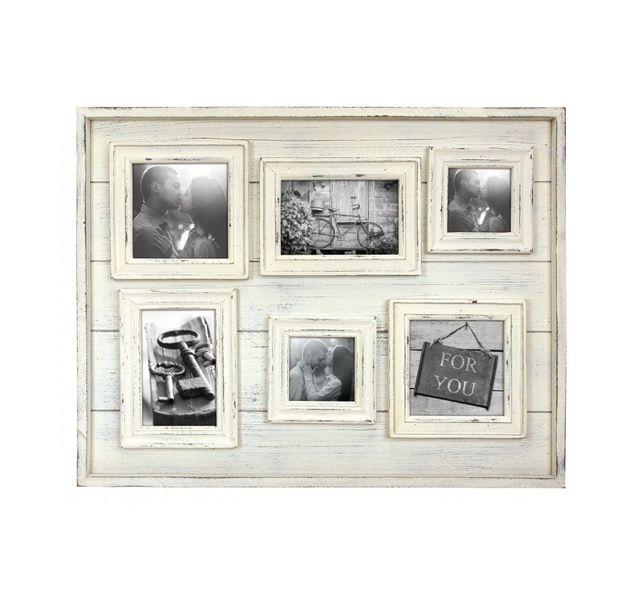 Zep Tangerie Cadre Photo tangeri Multi Vues avec 6 Photos Bois 10 x 10 cm