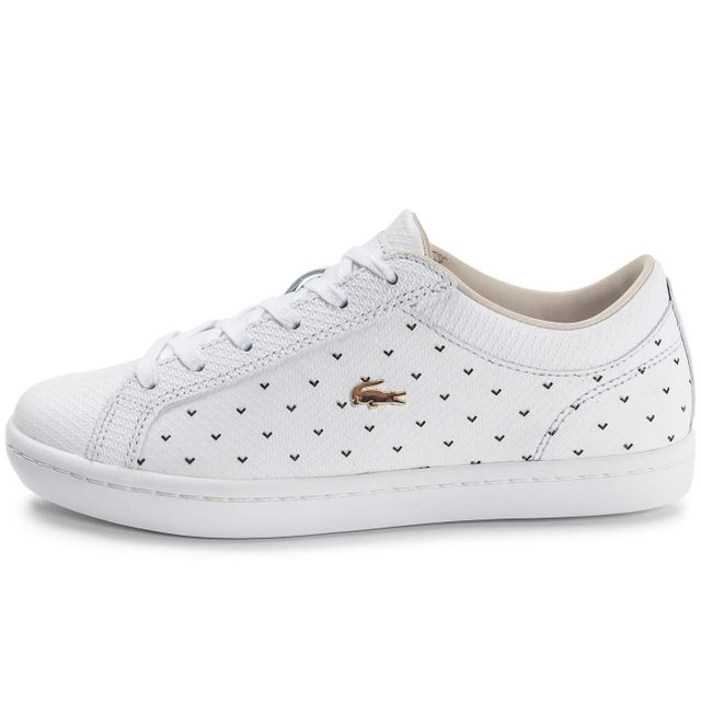 165aa403dd7 Lacoste - Straightset 117 Blanche - pas cher Achat   Vente Baskets femme -  RueDuCommerce