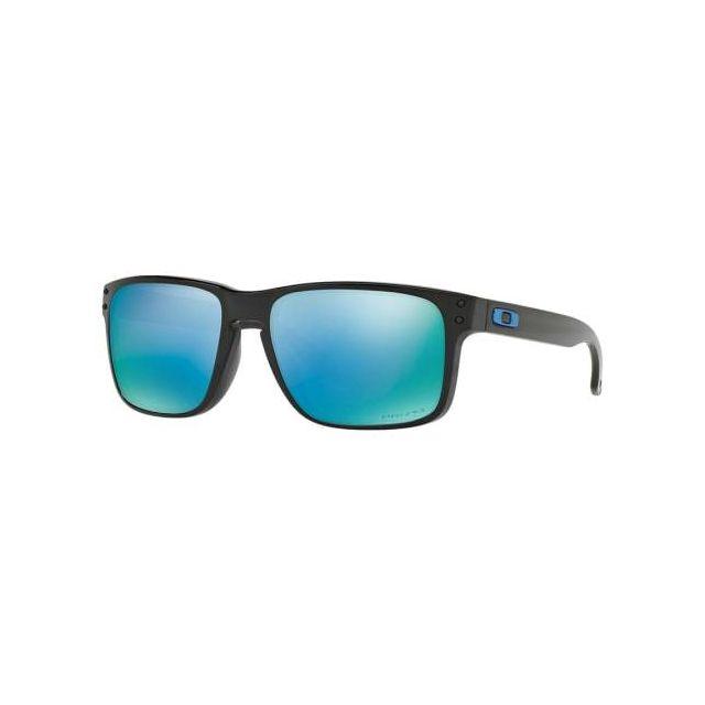 87184313e9cc9 Oakley - Lunettes Holbrook noir brillant avec verres Prizm Deep Water  polarisés